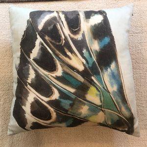 West Elm Silk Butterfly Pillow Cover